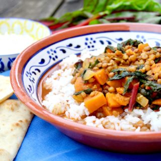 Moroccan Lentils with Swiss Chard