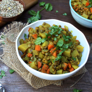 Warming Potato,Carrot and Lentil Stew