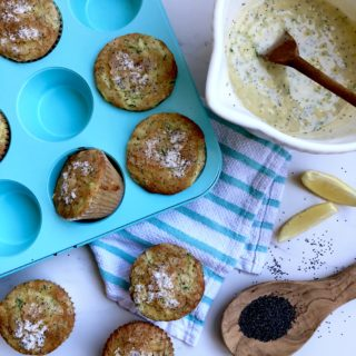 Lemon Poppy Seed Zucchini Muffins {SNEAKY SUNDAY RECIPE}