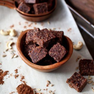 Power Cocoa Date Squares