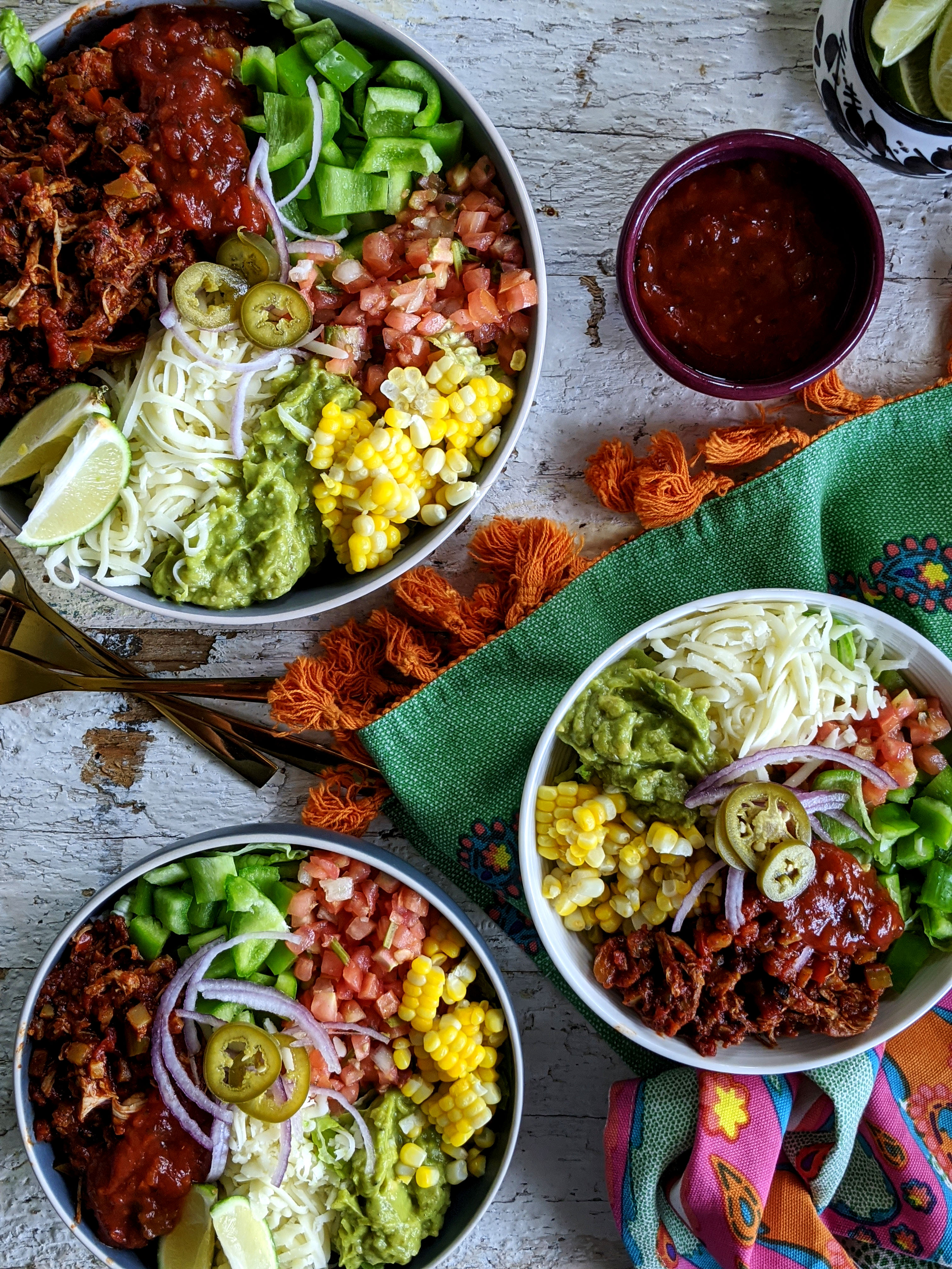 Shredded Chicken Taco Bowl Sneaky Mommies Family Friendly Recipes